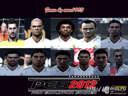 PES 2012 Facepack real madrid by ema1993