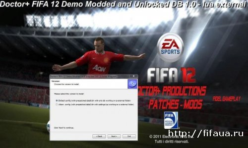 FIFA 12 Demo Modded Unlocked DB 1.1