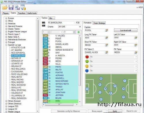 PES 12 Ultimate Editor 4.1.9