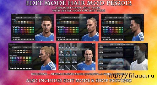 PES 12 Edit Mode Hair Mod