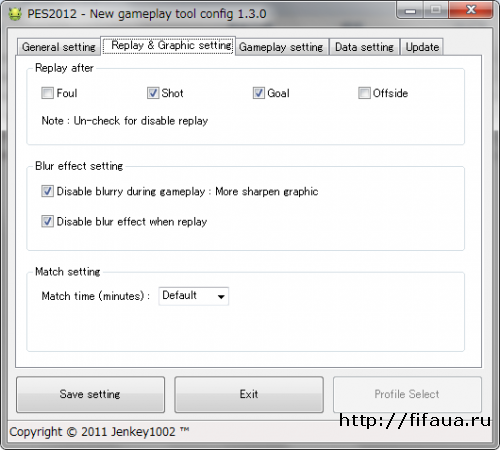 PES 12 Gameplay tool : New gameplay patch 1.30