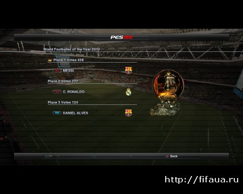 PES 2012 Real Trophy and Cup