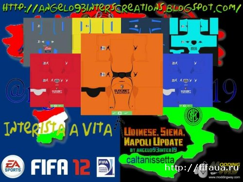 FIFA 12 Serie A Full Kits Update - Palermo, Siena, Napoli by angelo93inter19