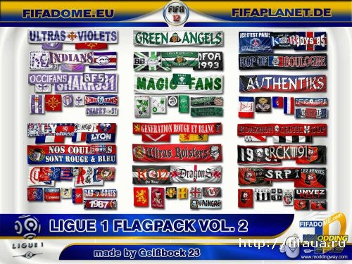 FIFA 12 Ligue 1 Flags Pack V2