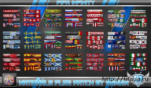 FIFA 12 Nationals Flag Patch