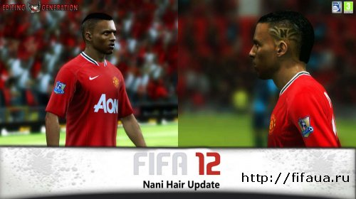 FIFA 12 Nani Face Hair Update
