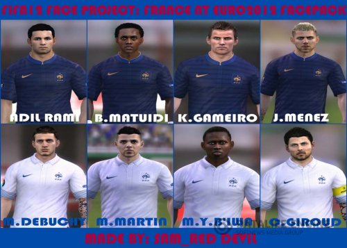 FIFA 12 France NT EURO 2012 Faces Pack