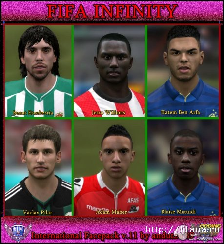 FIFA 12 International Faces Pack V11 by Andu89