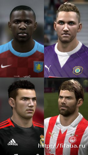 FIFA 12 International Faces Pack V2 by Jackass86