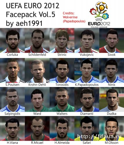 FIFA 12 Uefa Euro 2012 Faces Pack V 5 By Aeh1991
