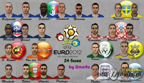 Euro 2012 Faces Pack by simo