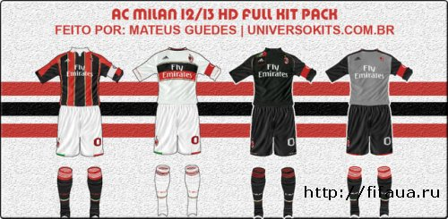FIFA 12 Ac Milan Full Kit Pack 12/13 Hd