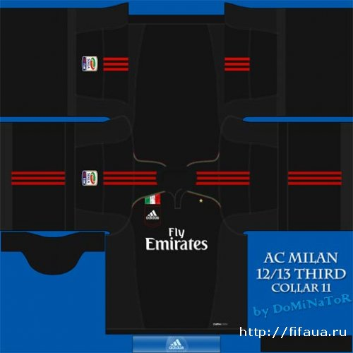 FIFA 12 Milan Third, Away 12/13 kits