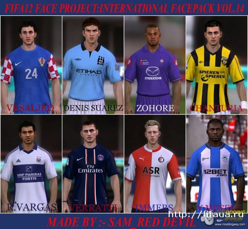 FIFA 12 Face Project - International Faces Pack VOL 14