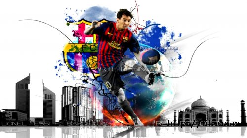 PES 13 Messi Press Any Key Menu