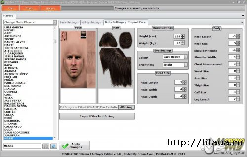 PES 13 Demo Ea Player Editor V.2.0
