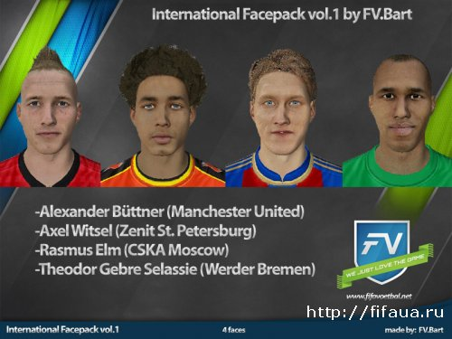 FIFA 13 International Facepack by FV.Bart