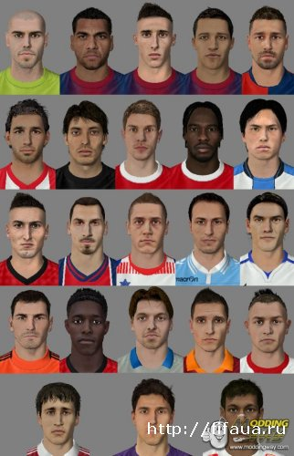FIFA 13  Faces Pack V1 by aNuKe by aNuKe