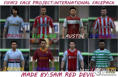 FIFA 13 face project:international facepack vol.1