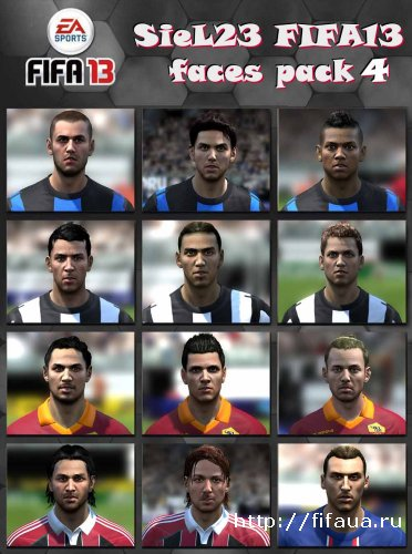 FIFA 13 SieL23 Faces Pack 4