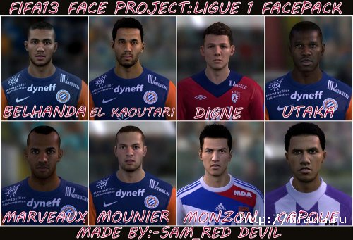 FIFA 13 Ligue 1 Facepack by sam_red devil