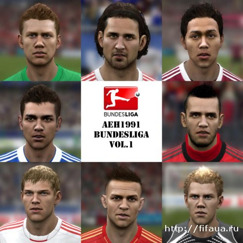 FIFA 13 Bundesliga Facepack by aeh1991