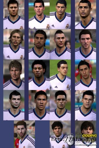 FIFA 13 Real Madrid Faces Pack Ohohohyayas