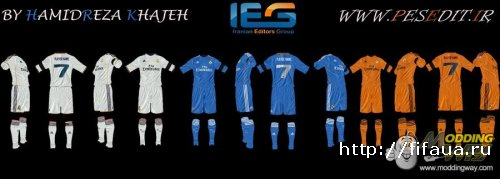 Real Madrid 2013-14 Kit Pack For FIFA13 By Hamidreza.K