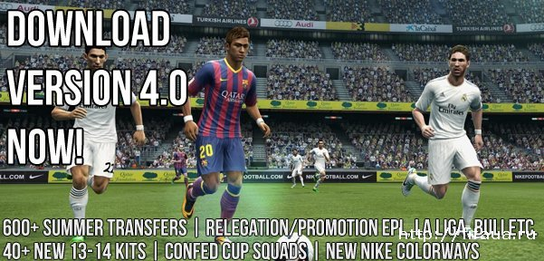 PESEdit.com 2013 Patch 4.0 для PES 2013