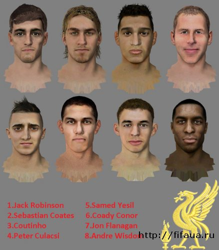 FIFA 13 Liverpool FacePack 2 By Zico