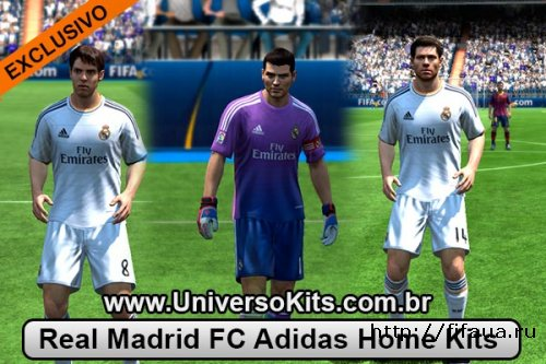 Real Madrid Fc Adidas Home Kits 13/14