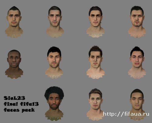 FINAL FIFA13 Faces Pack by SieL23