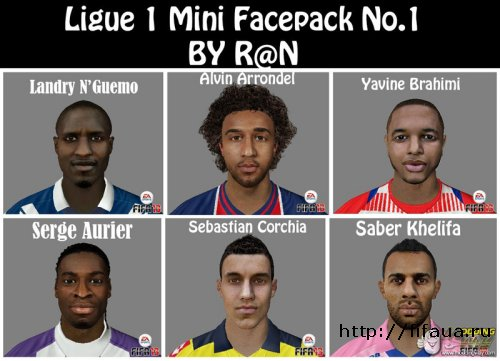 FIFA 13 Ligue 1 facepack No.1