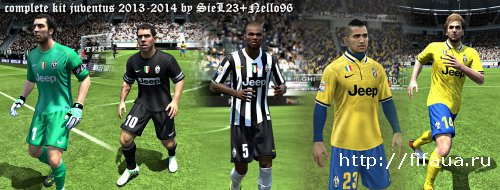 FIFA 13 Juventus 13-14 Kit Pack by SieL23 & Nello96