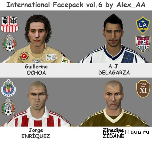 FIFA 13 INTERNATIONAL FACEPACK VOL.6 BY ALEX_AA