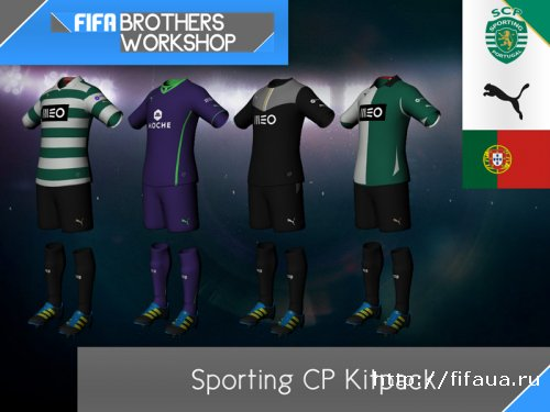 FIFA 13 Sporting CP 13-14 Kitpack by FIFA Brothers Workshop