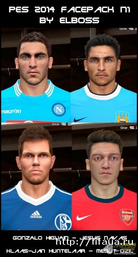 PES 14 Facepack N1 by ElBoss