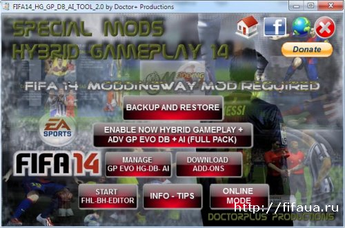 FIFA 14 HG - DB - AI INSTALLER SWITCHER - GP MANAGEMENT TOOL