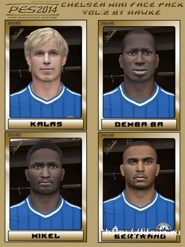 PES 14 Chelsea Mini Face Pack Vol2 by Hawke