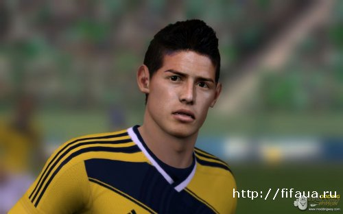 FIFA 14 James Rodriguez Face by Zyreq