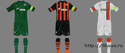 FIFA 14 Shakhtar Donetsk 13-14 Kit Set Update 1 by Michael