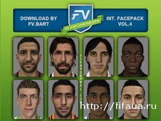 FIFA 14 International Facepack vol.4 by FV.Bart