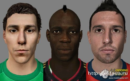 FIFA 14 Faces Pack V 6 by aNuKe