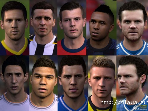 FIFA 14 Faces Pack V 7 by aNuKe
