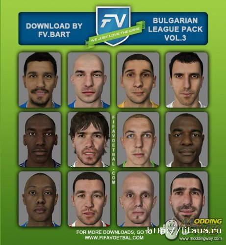 BULGARIAN LEAGUE FACEPACK VOL.3 BY FV.BART
