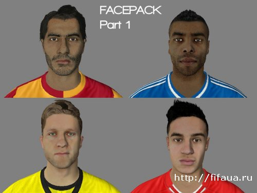 FIFA 14 1st' Facepack by Nizamawesome13