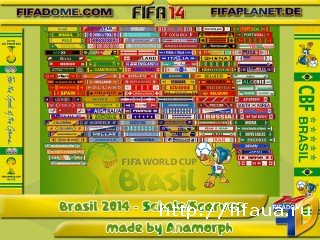 World Cup 2014 National Teams Scarf Patch by Anamorph