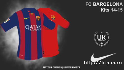 FIFA 14 Barcelona FC Nike 14-15 Kits by MateusGuedes_BR