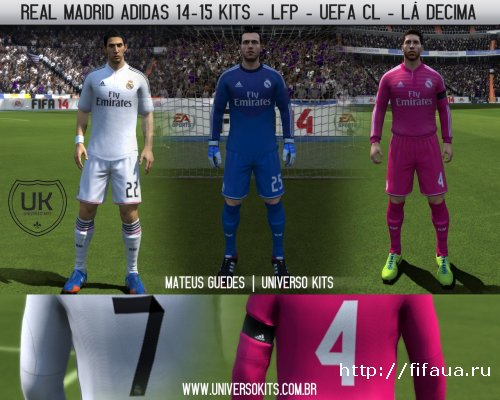 FIFA 14 Real Madrid Adidas 14-15 Kits By MateusGuedes_BR