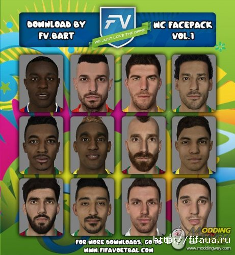FIFA 14 World Cup Facepack vol.1 by FV.Bart